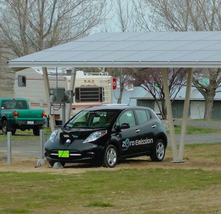 Sherman County RV Park Solar Awning