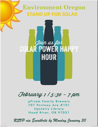 Stand Up for Solar Happy Hour in Hood River