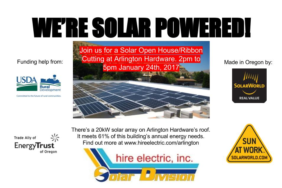 Solar Open House at Arlington Hardware